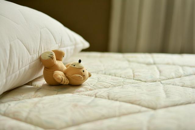 medvídek na matraci