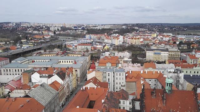 Plzeň Střechy