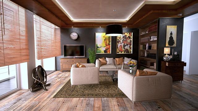 Zařízený obývací pokoj