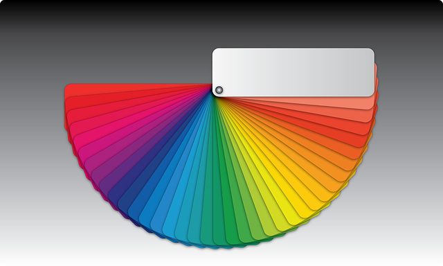 barevný vzorník – duha