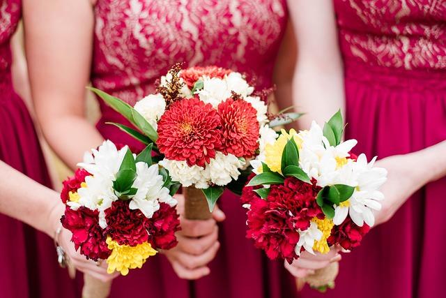Družičky s květinami