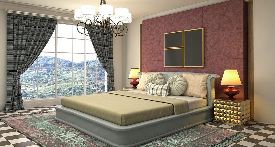 zařízená ložnice